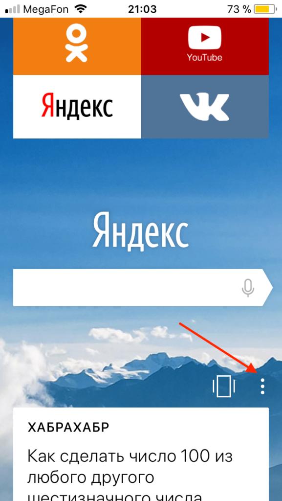 яндекс браузер на apple iphone iOS 11