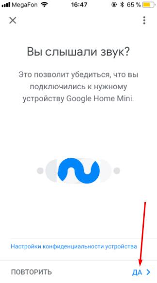 вы слышали звук спрашивает приложение google home